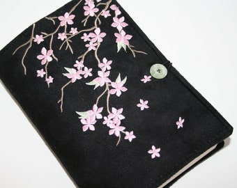 Cherry Blossom Embroidered book cover