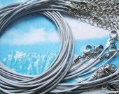 TINY FINISH-high quality15pcs 1mm 16-18 inch adjustable light gray korea wax string snake necklace cords