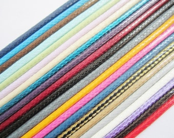high recmmend 50pcs assorted (22 colors for your choose)16-18 inch 2mm korea wax cotton SNAKE BONE necklace cords with small finish