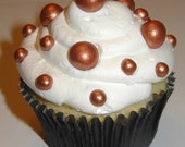 Fondant Edible Pearls - Copper 6mm Cake Decoration Cupcake Topper - Free Shipping