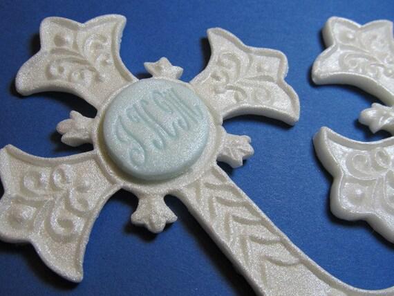 Custom order for Peg - Cross - Baptism Cake Topper