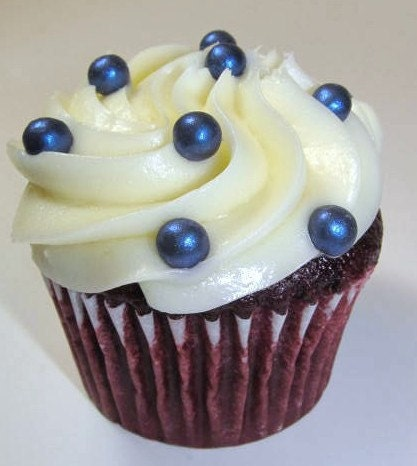 Cake Decor Pearls : Fondant Edible Pearls Dark Blue 8mm Cake Decoration Cupcake
