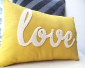 Yellow Love PIllow