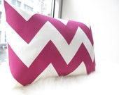 Chevron Pillow in Fuchsia