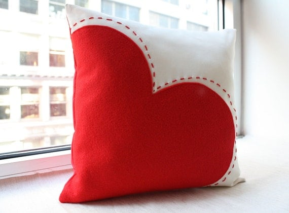 Items Similar To Big Red Heart Pillow Valentine 39 S Day Decor On Etsy