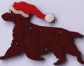 Field Spaniel Christmas Pin, Magnet or Ornament -Free Shipping -Hand Painted