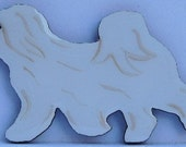 Coton de Tulear Pin, Magnet or Ornament- Hand Painted- Free Shipping