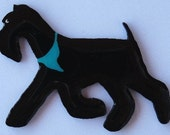 Kerry Blue Pin, Magnet or Ornament -Free Shipping -Hand Painted