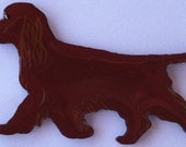 Sussex Spaniel Pin, Magnet or Ornament -Free Shipping -Hand Painted