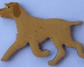 Italian Spinone Pin, Magnet or Ornament-Color Choice-Free Shipping-Hand Painted