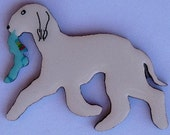 Bedlington Terrier Pin, Magnet or Ornament -Free Shipping - Hand Painted