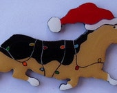 Corgi Christmas Pin, Magnet or Ornament-Pembroke or Cardigan-Color Choice-Free Shipping-Hand Painted