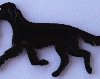 Flat Coated Retriever Pin, Magnet or Ornament-Color Choice-Free Shipping-Hand Painted