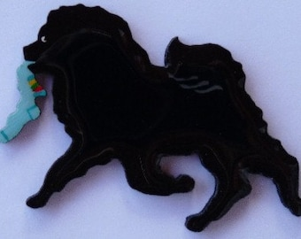 Chow Pin, Magnet or Ornament -Free Shipping -Color Choice -Hand Painted