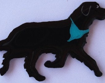 Newfoundland Dog Pin, Magnet or Ornament-Free Shipping-Hand Painted