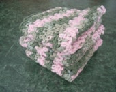 3 large cotton washcloths or dishcloths