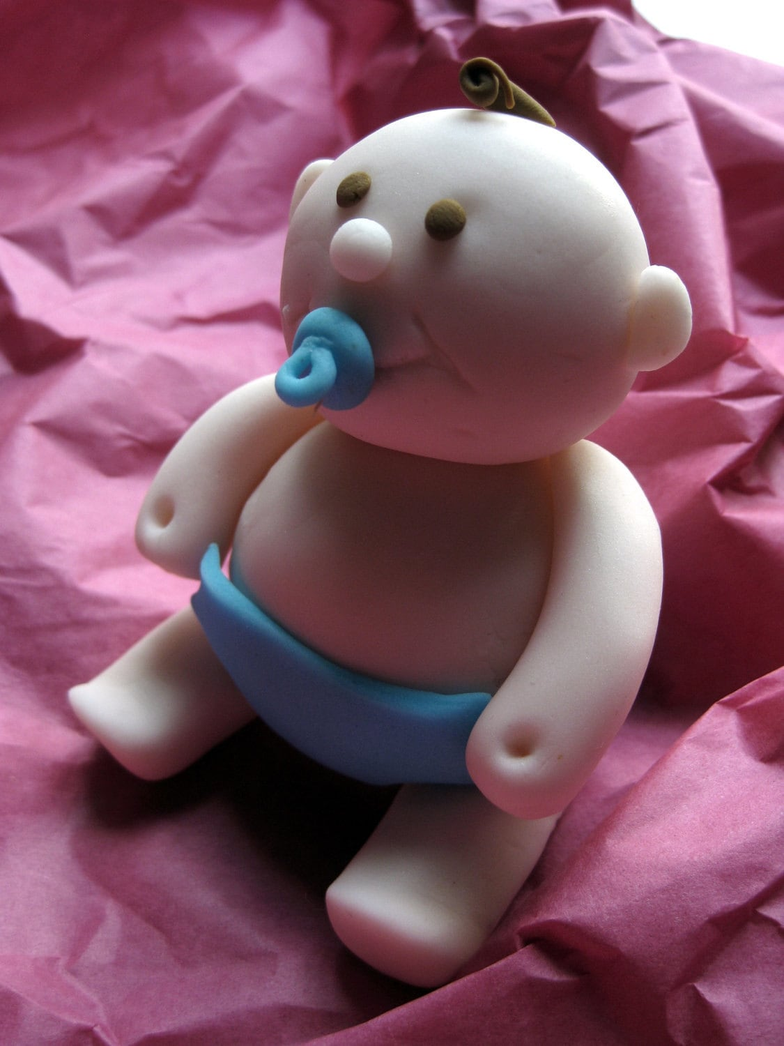 Cake Toppers On Fondant : Fondant baby cake topper figurine baby shower cake topper