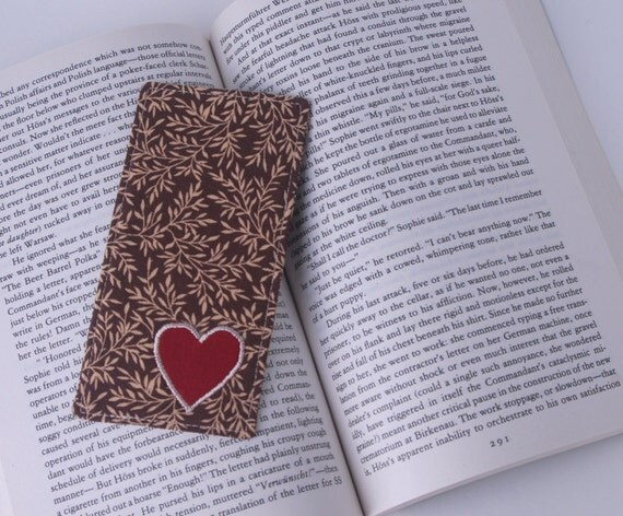 Embroidered Fabric Bookmark-Sweet Heart Applique
