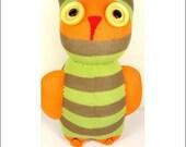 Handmade Sock Owl Stuffed Animal Doll Baby Toys