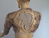 Freeform Crochet  Lace  Shrug Shawl  / Fall  Spring Fashion /  One of a kind