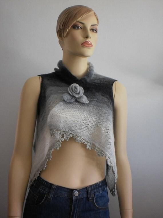 REDUCED Hand Knitted Shawl Shrug Scarf -  Fall Fashion