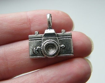 4 Camera pendants antique silver tone P202