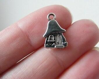 BULK 50 House charms tibetan silver P52