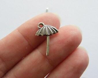 14 Beach umbrella charms tibetan silver CA126