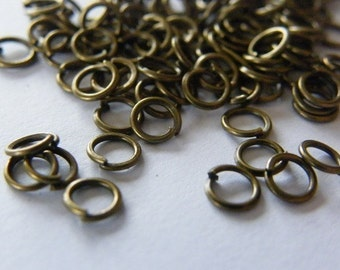 200 Jump rings 4mm antique bronze tone