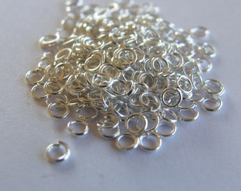 200 Jump rings 3mm silver plated
