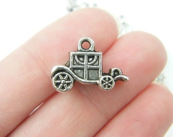 5 Carriage charms antique silver tone TT44