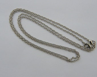 "2 Necklace chains 46cm 18"" silver tone"