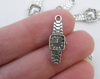 BULK 50 Watch charms antique silver tone P191