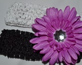 Lilac Flower Clip with 2 HEADBAND