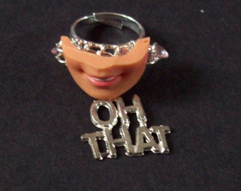 Barbie Doll mouth adjustable ring