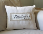custom family name pillow cover