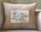 Isak Dinesen quote pillow cover - fits 16x16 insert