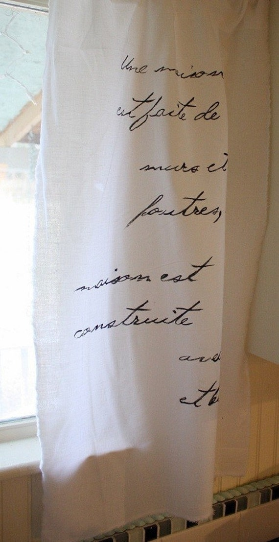french script curtains
