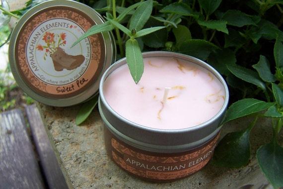 Sweet Pea Organic Soy Candle