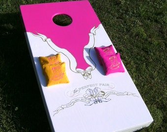 Handmade Deluxe Custom Wedding/Event Cornhole Board Set
