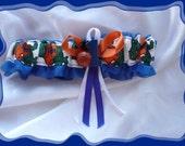Royal Organza Wedding Garter Toss Made with Florida Fabric Charm ((SALE))