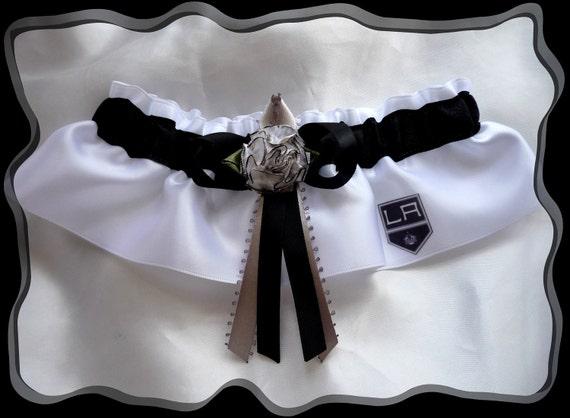 Los Angeles Kings Satin Wedding Garter Keepsake