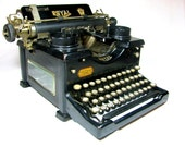 TYPEWRITER - ROYAL No. 10 with Glass Windows on Sides - 1927 - Steampunk ANTIQUE