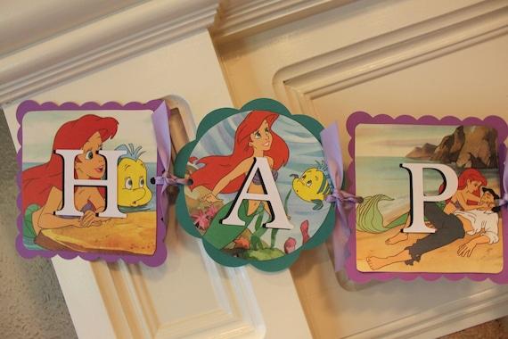 Disney's THE LITTLE MERMAID Happy Birthday Banner