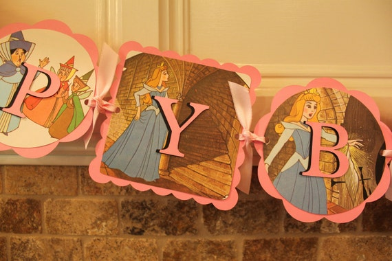SLEEPING BEAUTY Disney Birthday Party Banner