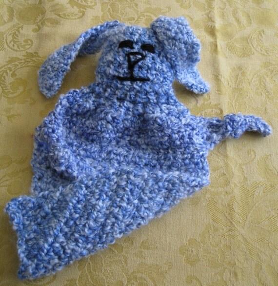 Crocheted Bunny Security Blankie