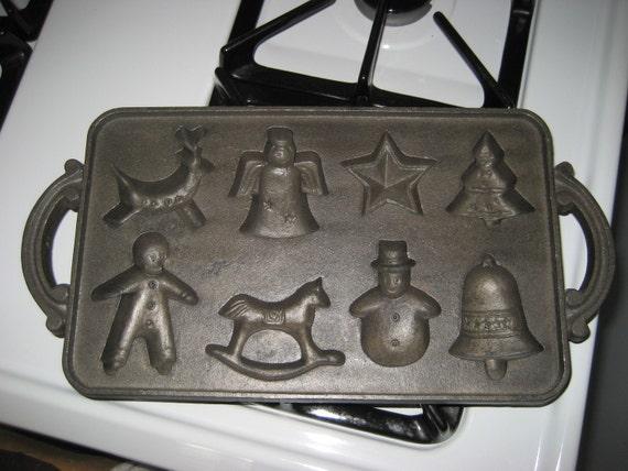 Cast Iron Christmas Bake Molds