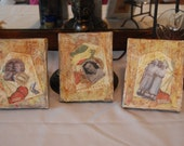 Original Collage Mixed Media - Set of 3 -  Stages of Women's Life -  Maiden, Mother, Crone - Home - Generations - Memories - Nostalgia