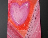 So Good - Heart Story ACEO Hand Painted - Free Shipping
