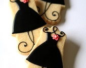Little Black Dress Sugar Cookies // 1 Dozen // Individually wrapped and and packaged
